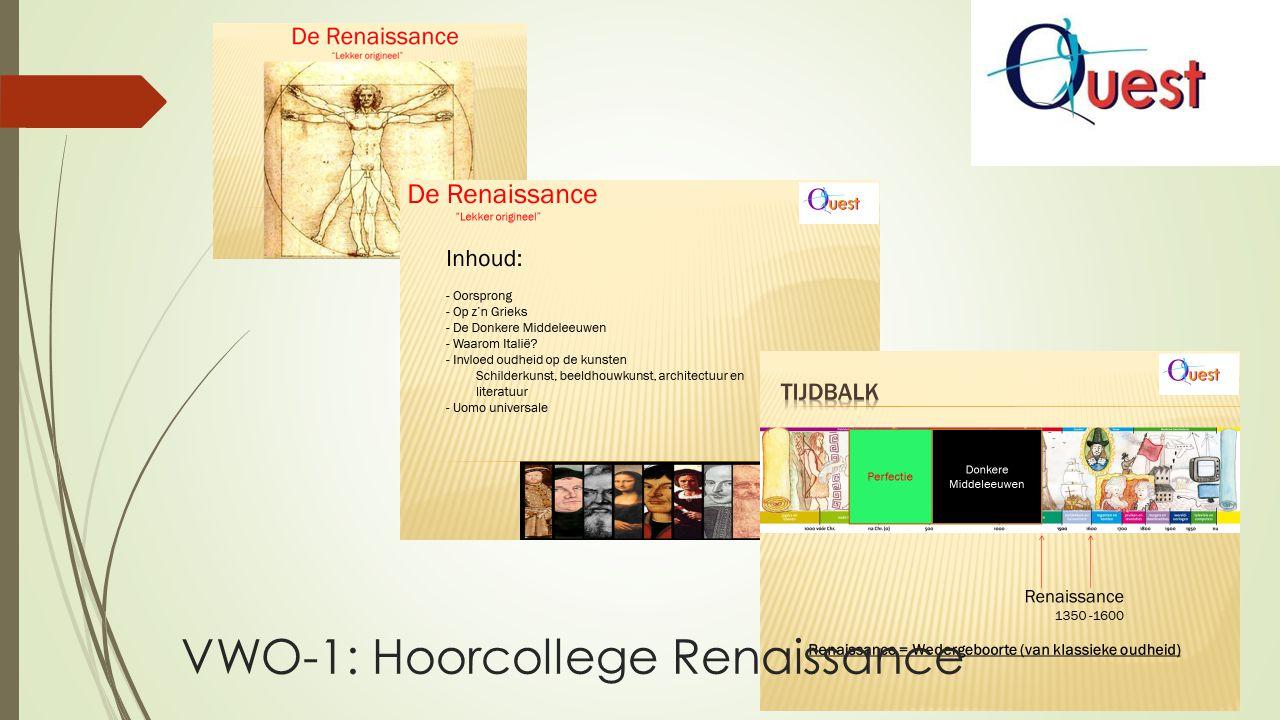 VWO-1: Hoorcollege Renaissance