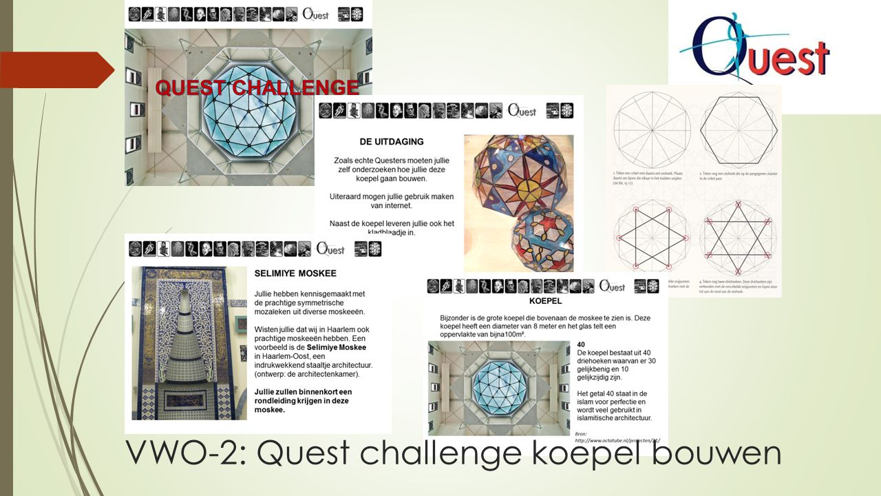 VWO-2: Quest challenge koepel bouwen