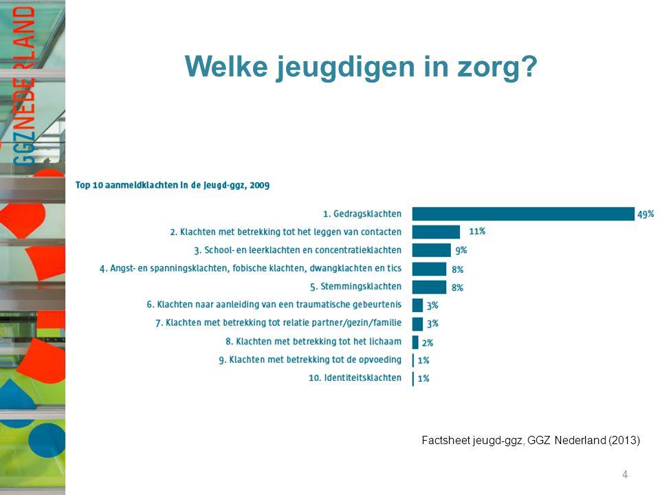 Welke jeugdigen in zorg? 4 Factsheet jeugd-ggz, GGZ Nederland (2013)