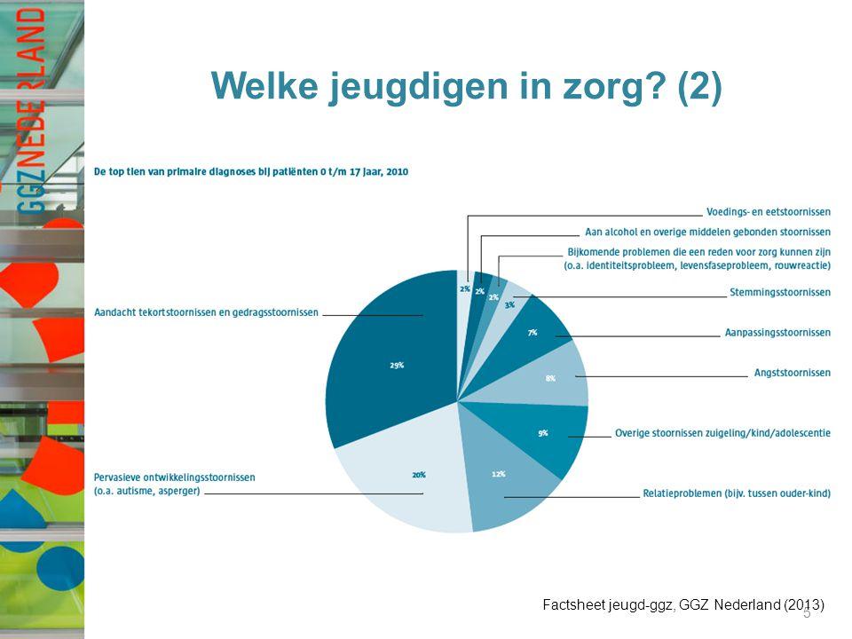 Welke jeugdigen in zorg? (2) 5 Factsheet jeugd-ggz, GGZ Nederland (2013)