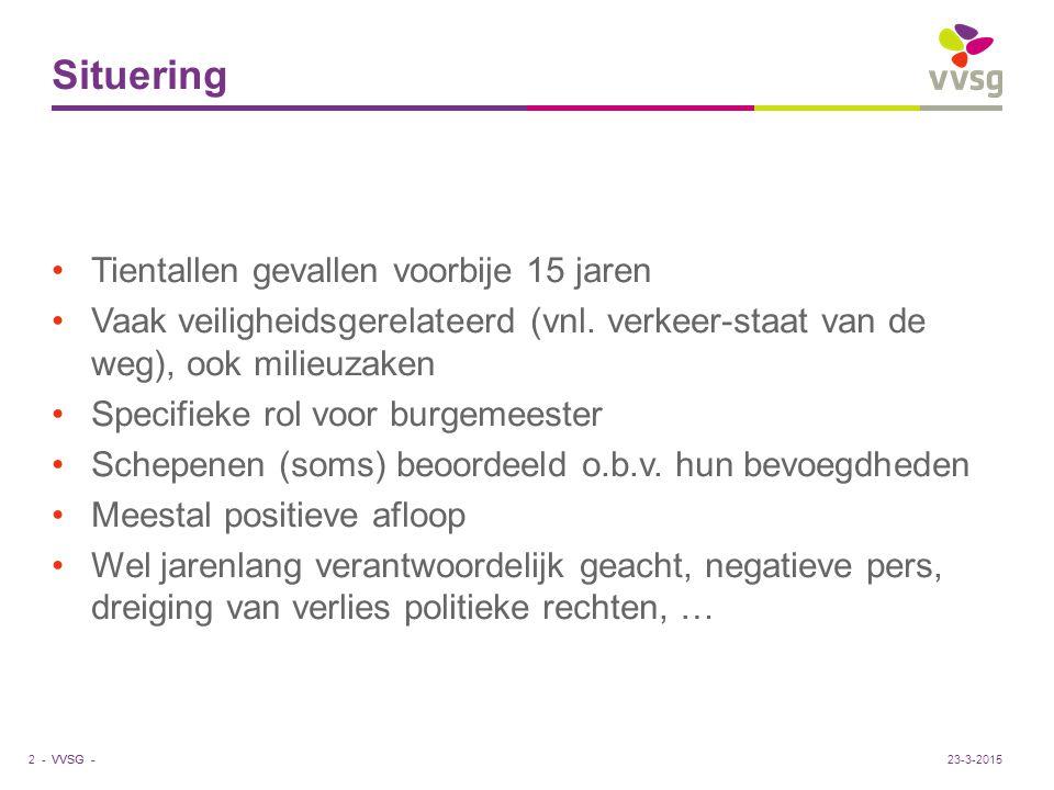 VVSG - Procedure Strafrechtelijke procedure, vnl.