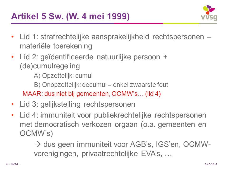 VVSG - Artikel 5 Sw. (W.
