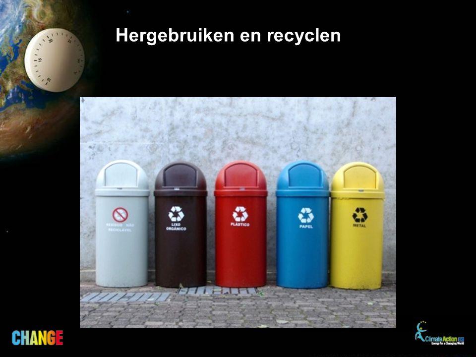 Hergebruiken en recyclen