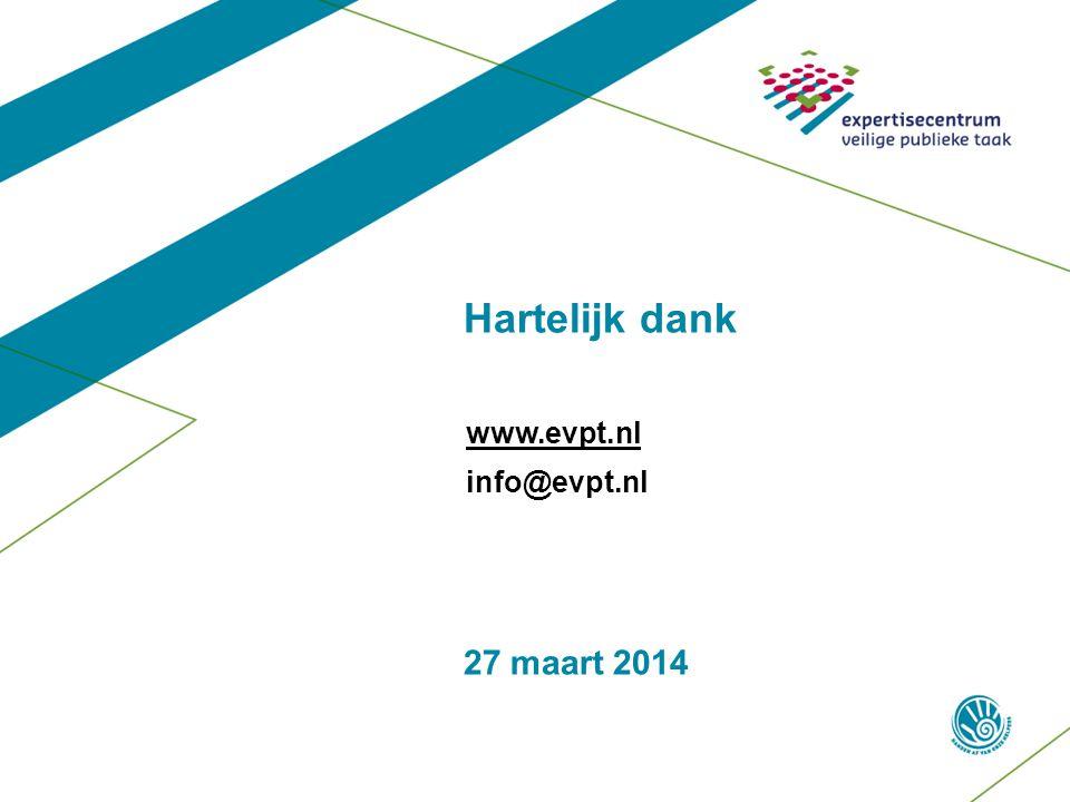 27 maart 2014 Hartelijk dank www.evpt.nl info@evpt.nl