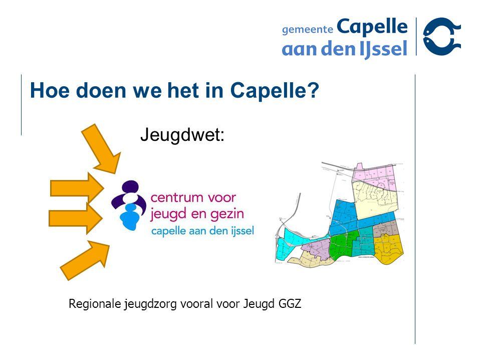 Hoe doen we het in Capelle Jeugdwet: Regionale jeugdzorg vooral voor Jeugd GGZ