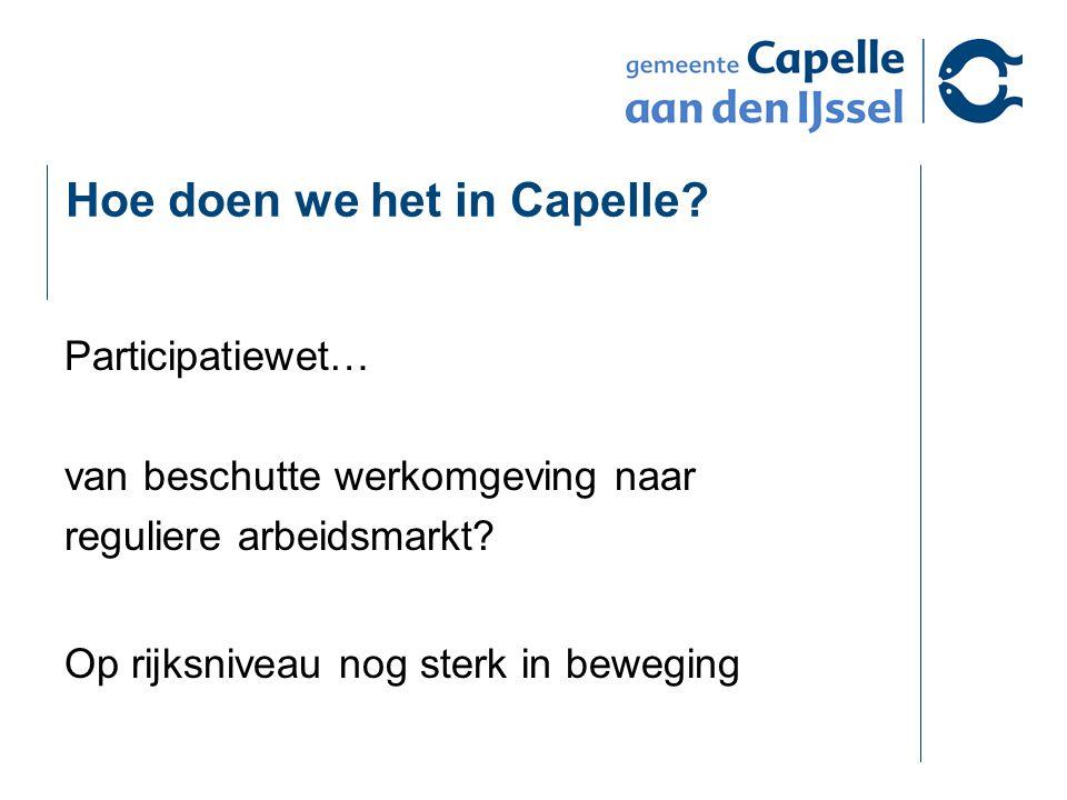 Hoe doen we het in Capelle.