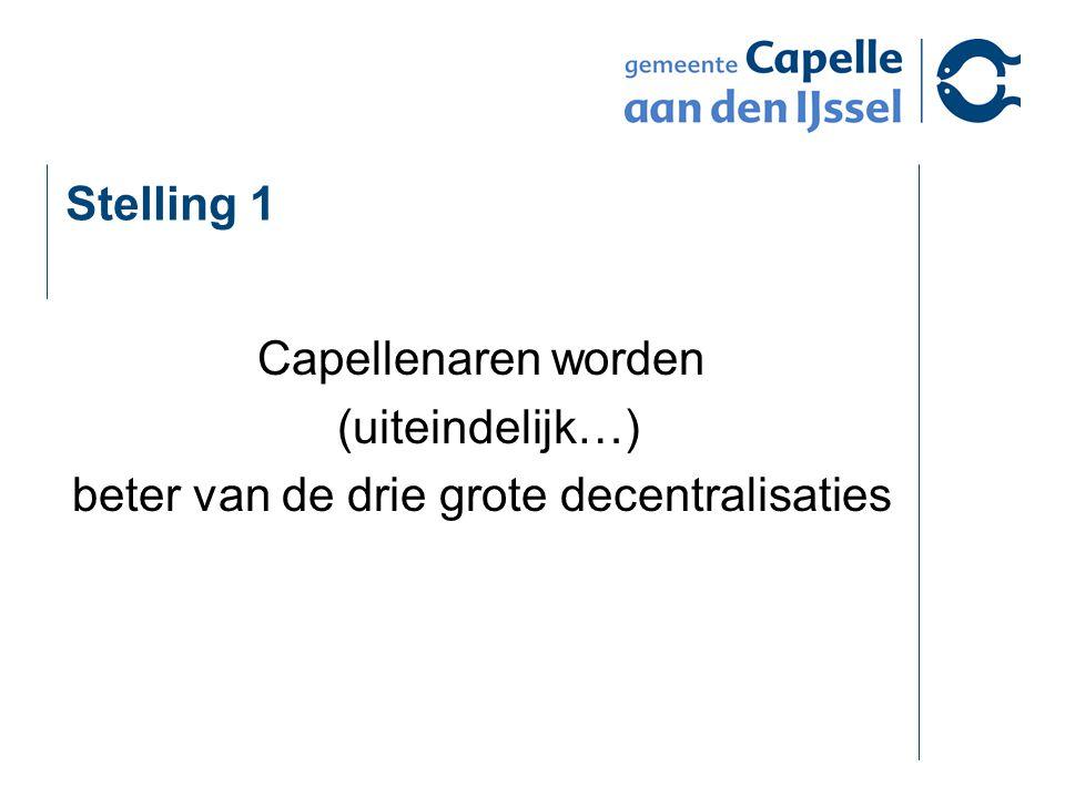 Stelling 1 Capellenaren worden (uiteindelijk…) beter van de drie grote decentralisaties