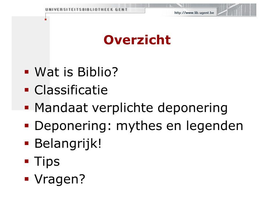 Overzicht  Wat is Biblio.