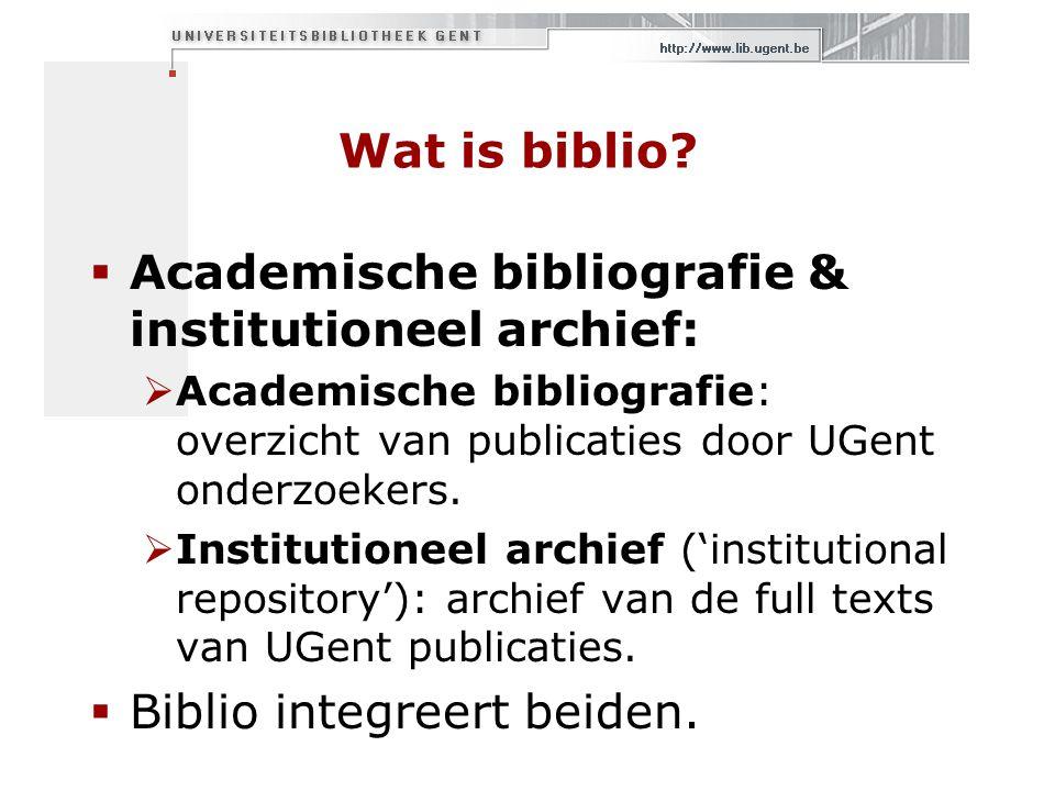 Wat is biblio.