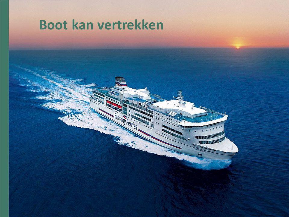 Boot kan vertrekken