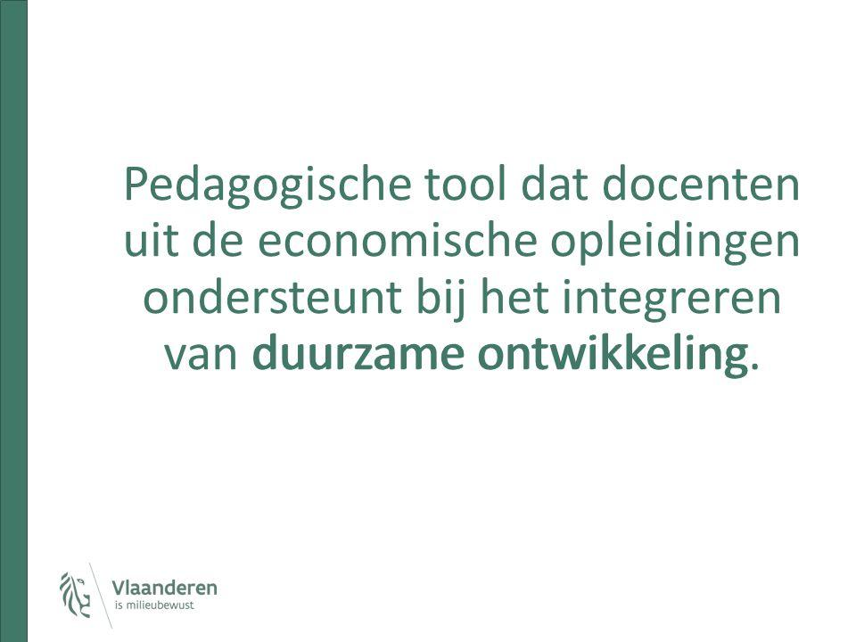 Pedagogische tool dat docenten uit de economische opleidingen ondersteunt bij het integreren van duurzame ontwikkeling.