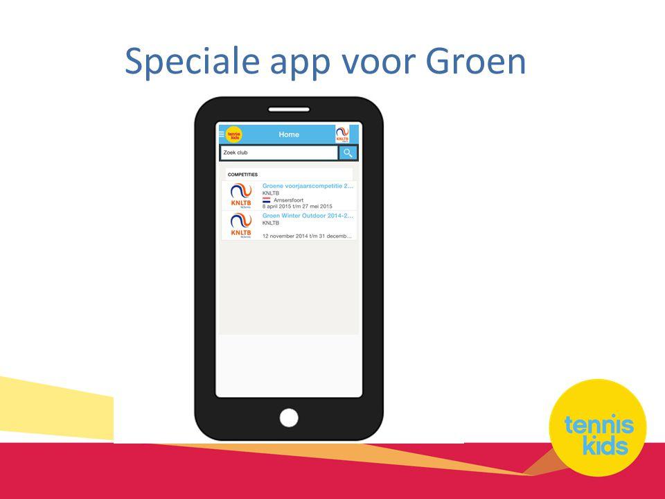 Speciale app voor Groen