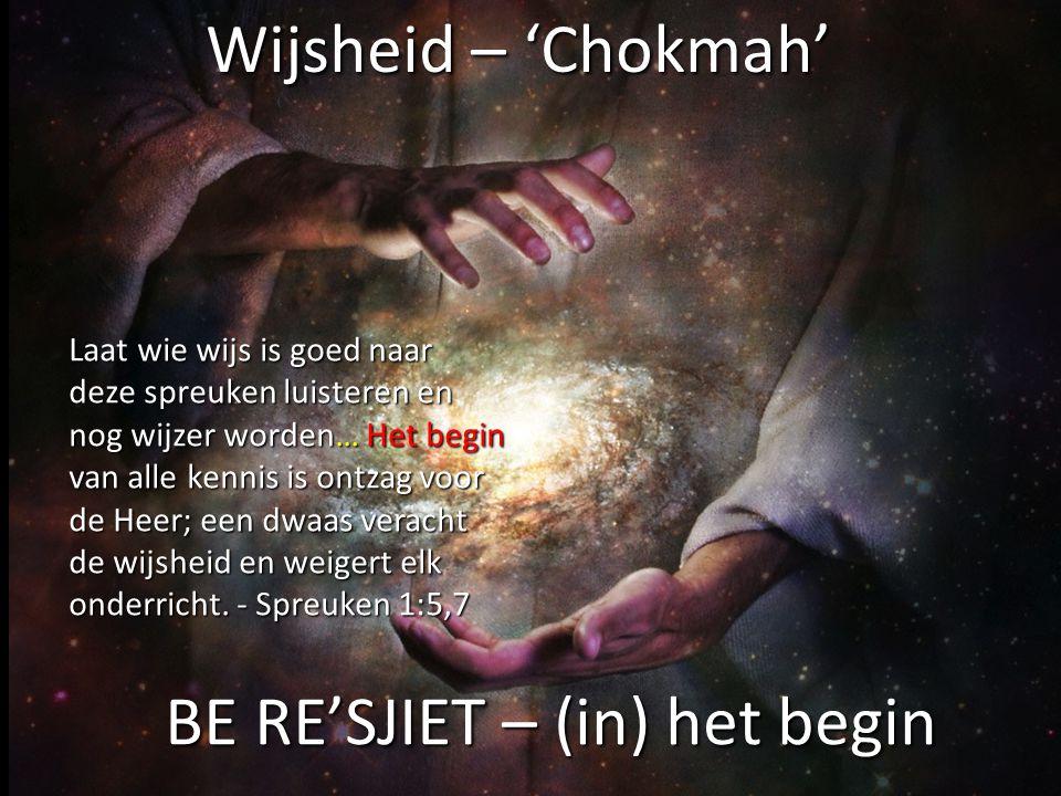 1.De begrippen inzicht en verstandigheid komen van het Hebreeuwse stamwoord 'onderscheidingsvermogen'.