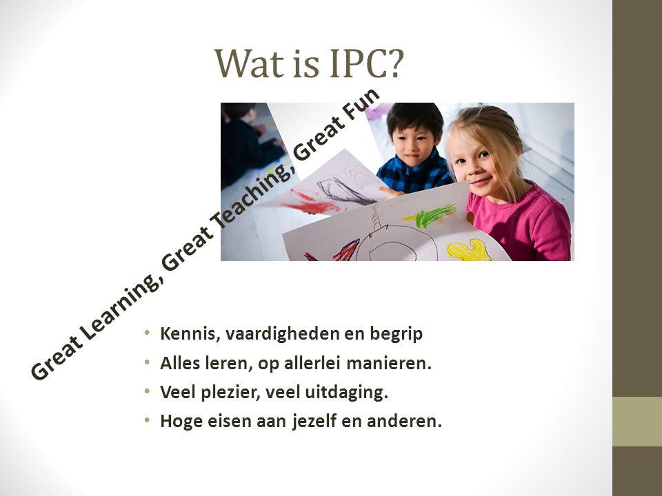 Wat is IPC. Kennis, vaardigheden en begrip Alles leren, op allerlei manieren.
