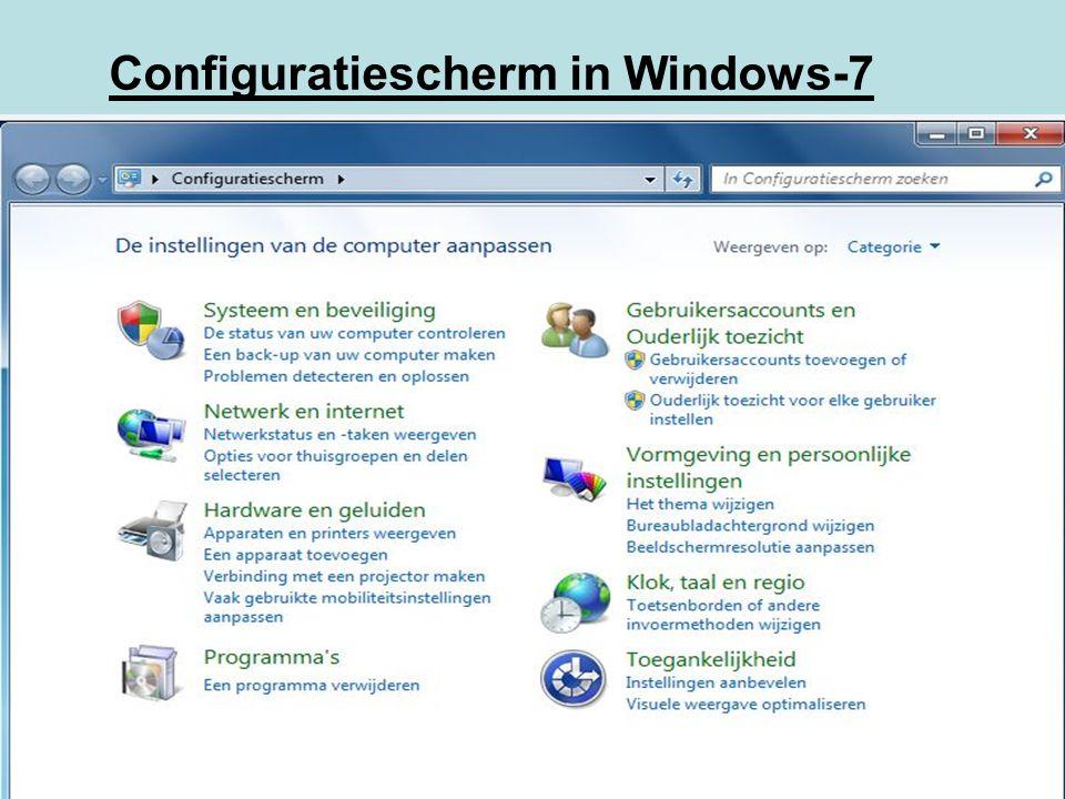 Configuratiescherm in Windows-7