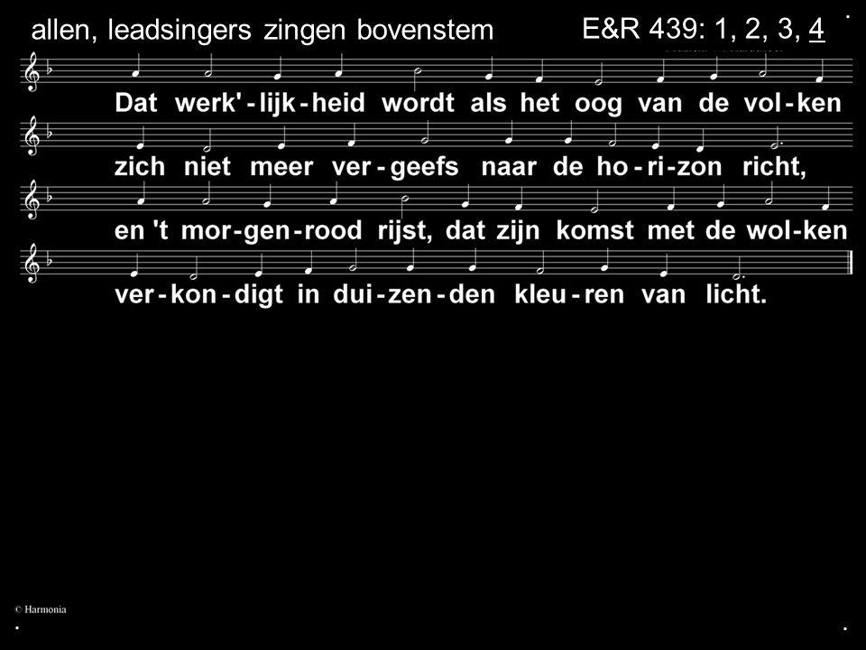 ... E&R 439: 1, 2, 3, 4