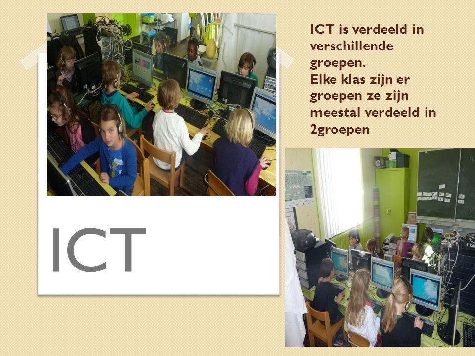 ICT is verdeeld in verschillende groepen.