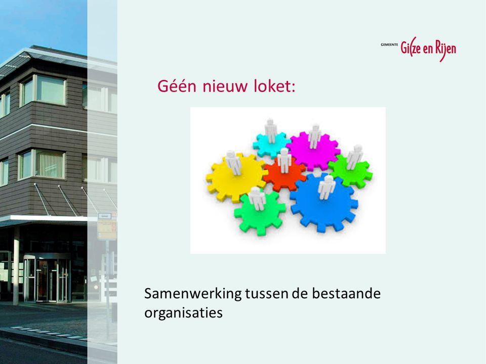 Géén nieuw loket: Samenwerking tussen de bestaande organisaties