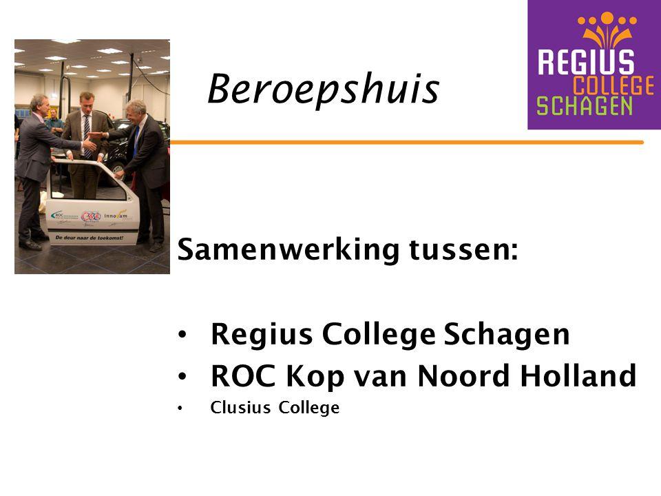 Beroepshuis Samenwerking tussen: Regius College Schagen ROC Kop van Noord Holland Clusius College