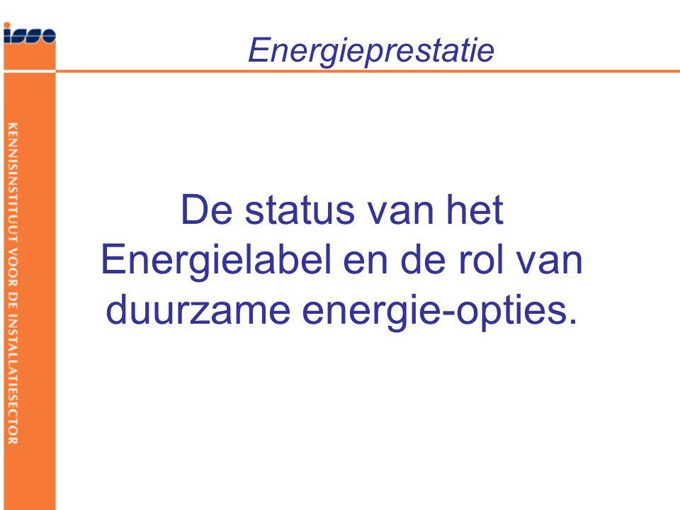 Energieprestatie De status van het Energielabel en de rol van duurzame energie-opties.