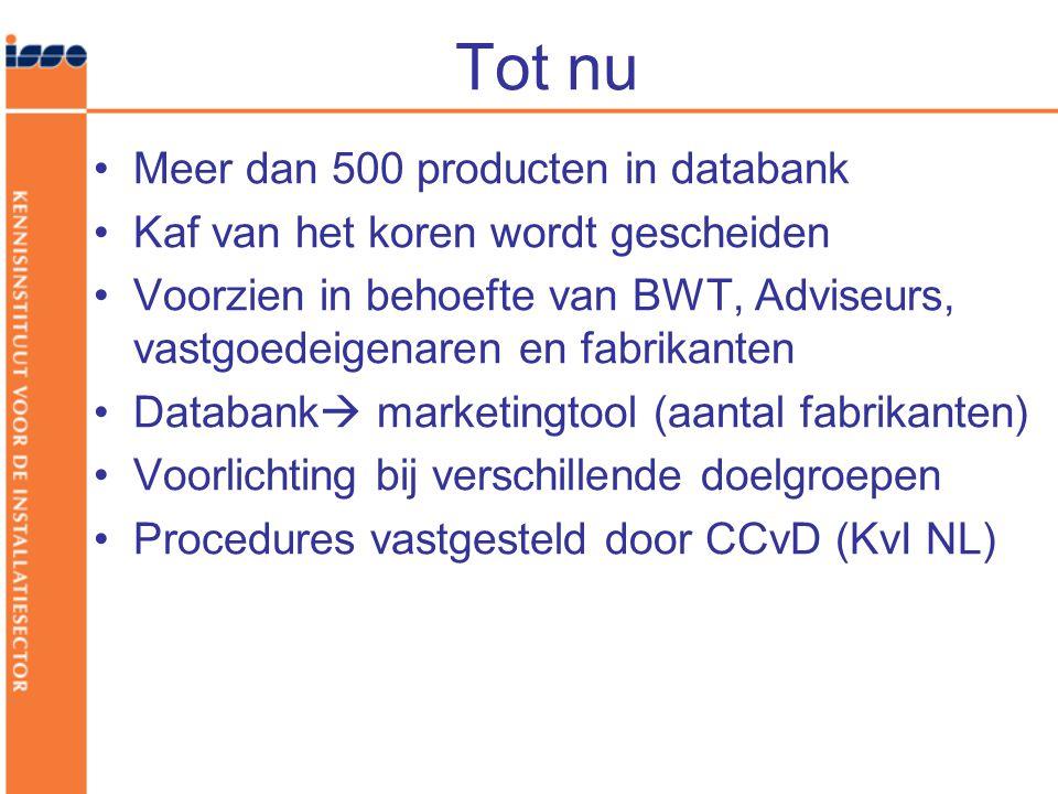 Tot nu Meer dan 500 producten in databank Kaf van het koren wordt gescheiden Voorzien in behoefte van BWT, Adviseurs, vastgoedeigenaren en fabrikanten