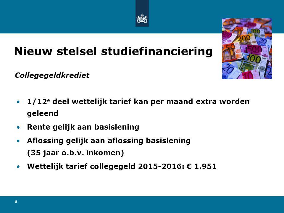6 1/12 e deel wettelijk tarief kan per maand extra worden geleend Rente gelijk aan basislening Aflossing gelijk aan aflossing basislening (35 jaar o.b