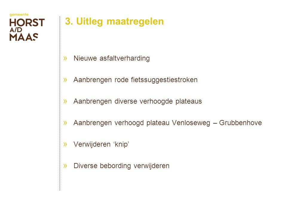 3. Uitleg maatregelen » Nieuwe asfaltverharding » Aanbrengen rode fietssuggestiestroken » Aanbrengen diverse verhoogde plateaus » Aanbrengen verhoogd