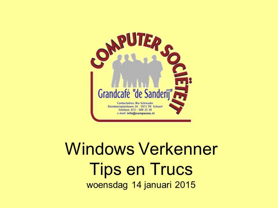 Windows Verkenner Tips en Trucs Mapopties