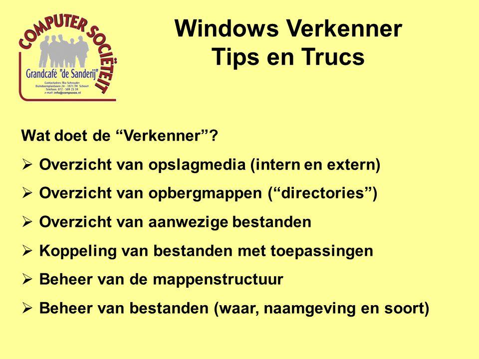 Windows Verkenner Tips en Trucs Koppeling van bestanden aan programma's via bestandsextensie Hoe te selecteren.