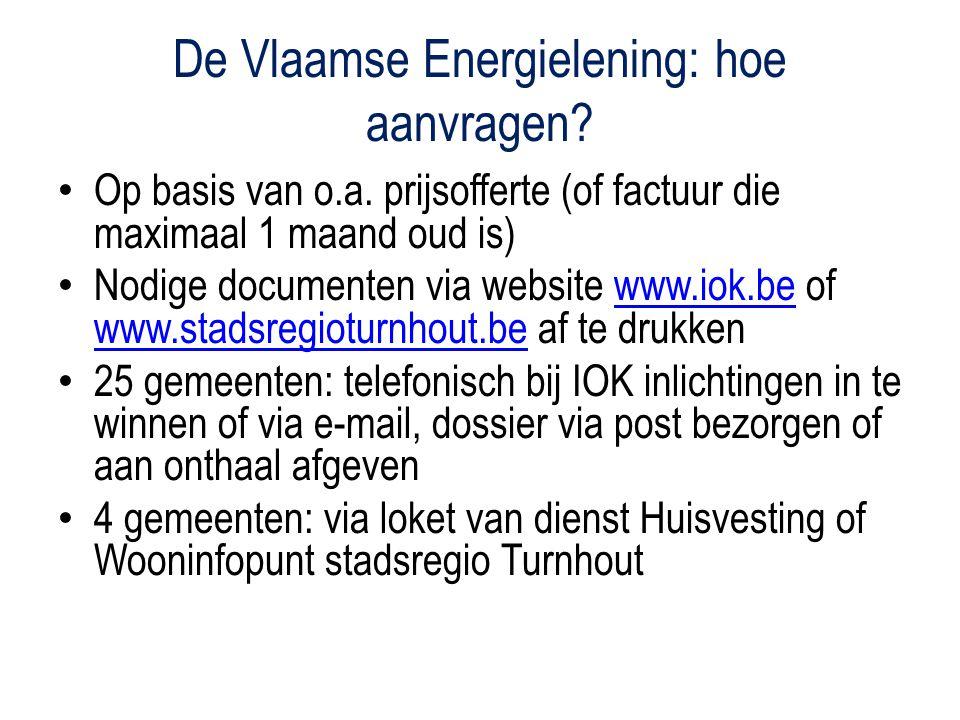 De Vlaamse Energielening: hoe aanvragen. Op basis van o.a.