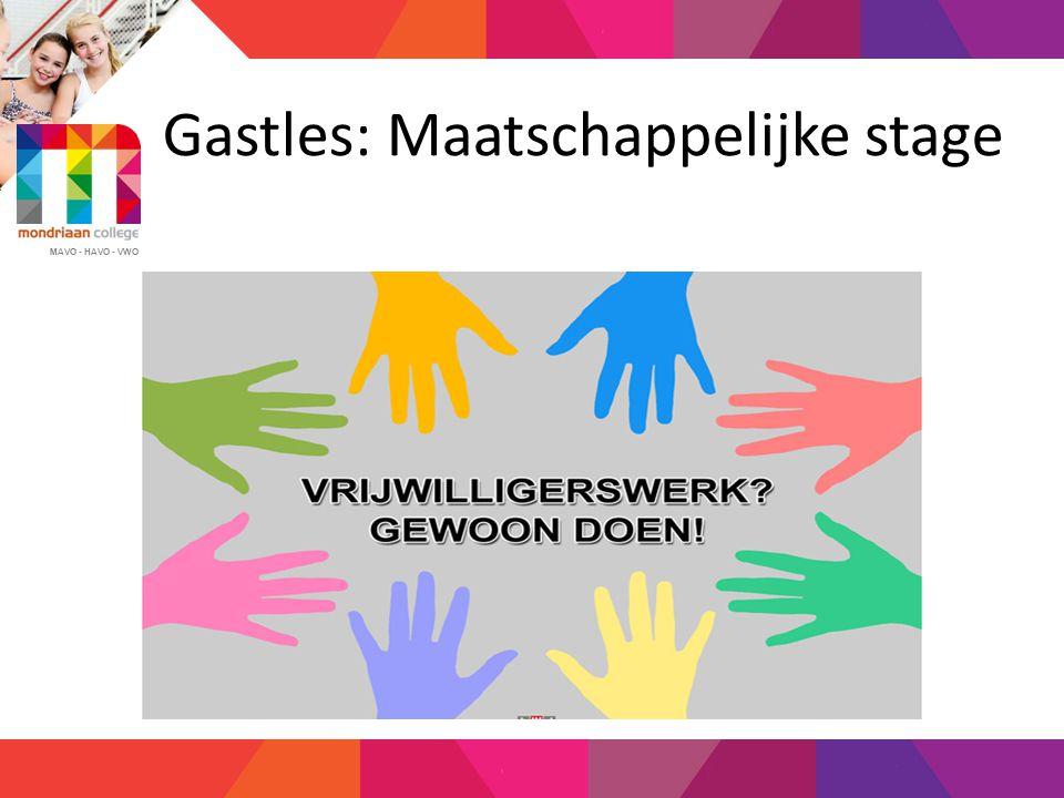 MAVO - HAVO - VWO MEER INFORMATIE OVER MaS  www.maatschappelijkestage.nl  www.mas4jou.nl