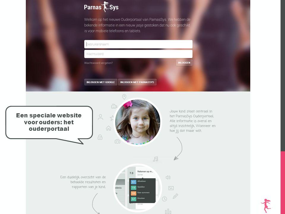 Een speciale website voor ouders: het ouderportaal
