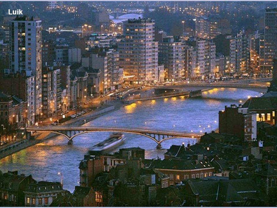 Luchtfoto van Luik