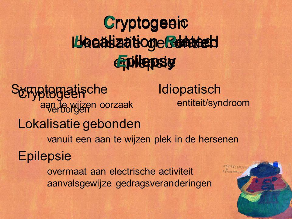 Cryptogeen verborgen Epilepsie overmaat aan electrische activiteit aanvalsgewijze gedragsveranderingen Cryptogenic localization related epilepsy Crypt