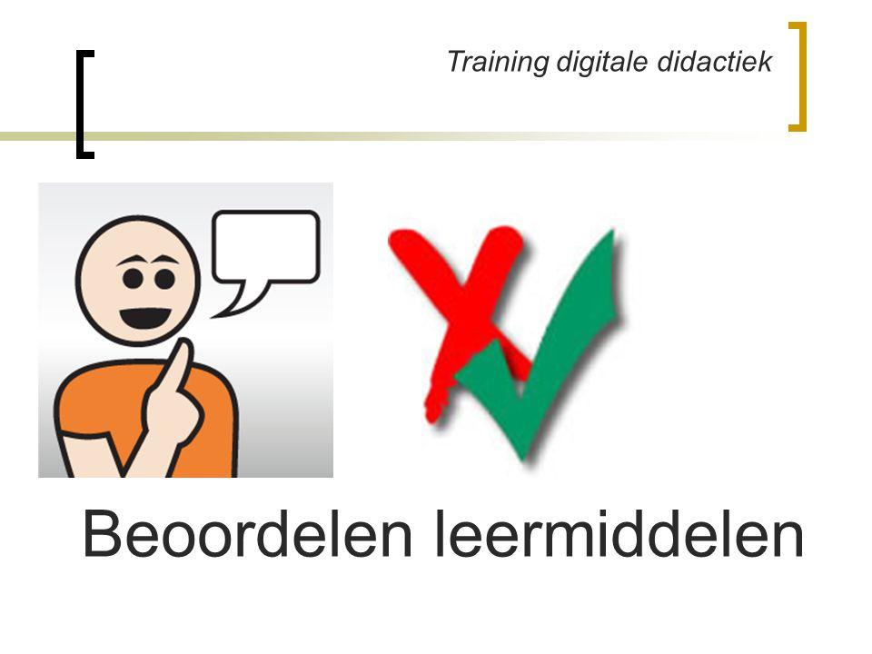Training digitale didactiek Beoordelen leermiddelen