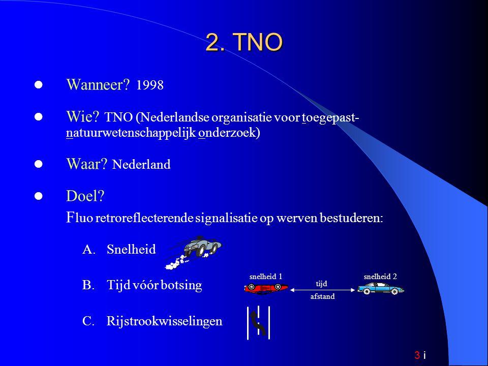 3 i 2. TNO Wanneer. 1998 Wie.