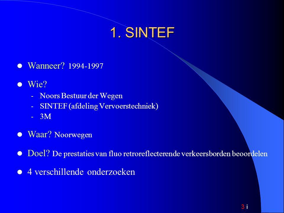 3 i 1. SINTEF Wanneer. 1994-1997 Wie.