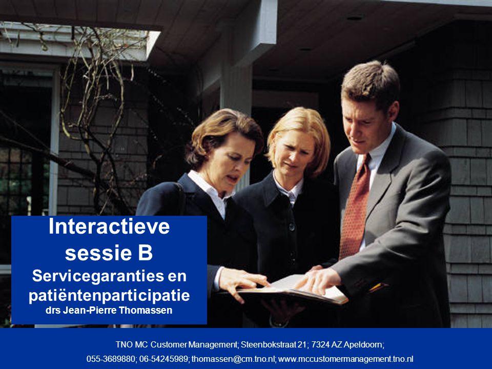 2 Aan de slag Presentatie van enkele voorbeelden Uw servicegarantie Servicegaranties