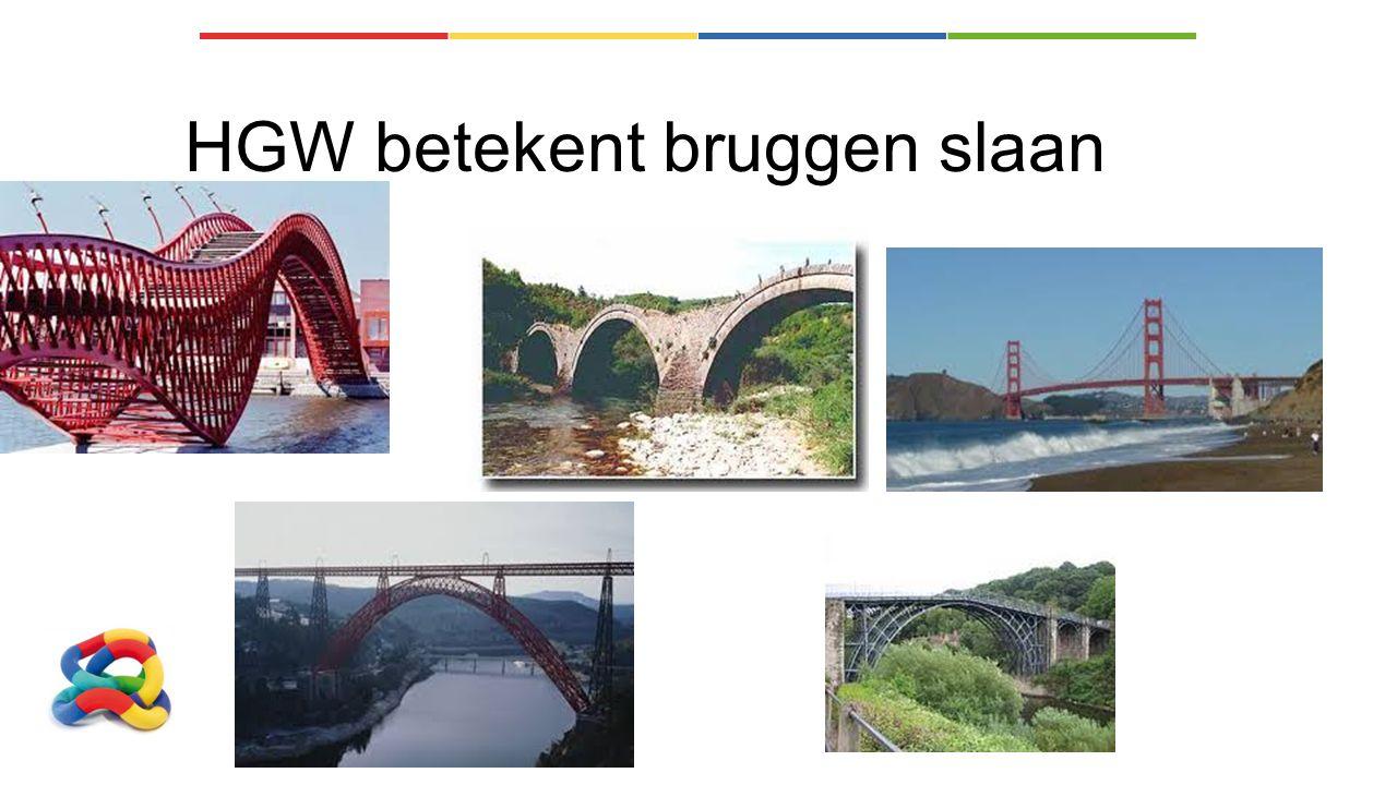 HGW betekent bruggen slaan