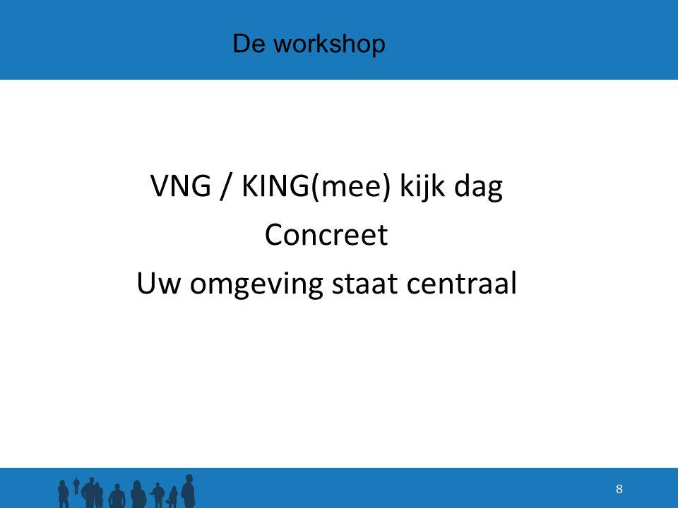 De workshop VNG / KING(mee) kijk dag Concreet Uw omgeving staat centraal 8