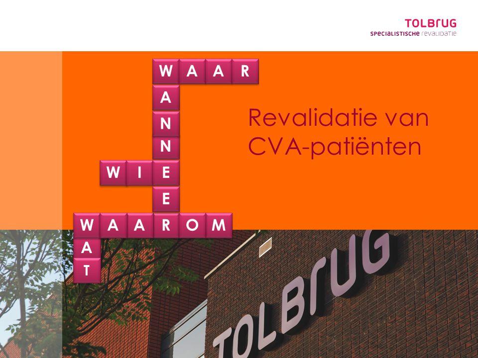 Revalidatie van CVA-patiënten A W N A A W N I RM A A E WO E A R T