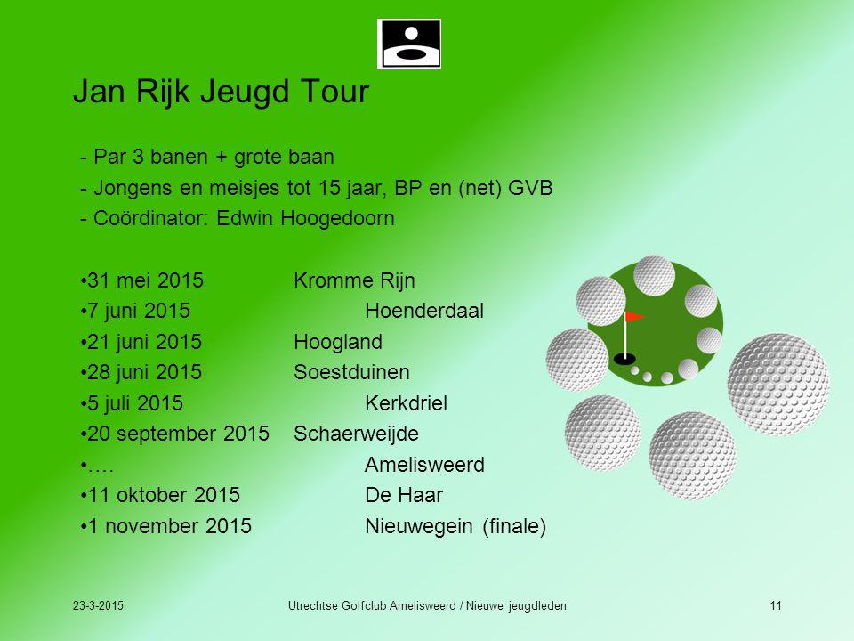 23-3-2015Utrechtse Golfclub Amelisweerd / Nieuwe jeugdleden11 Jan Rijk Jeugd Tour - Par 3 banen + grote baan - Jongens en meisjes tot 15 jaar, BP en (