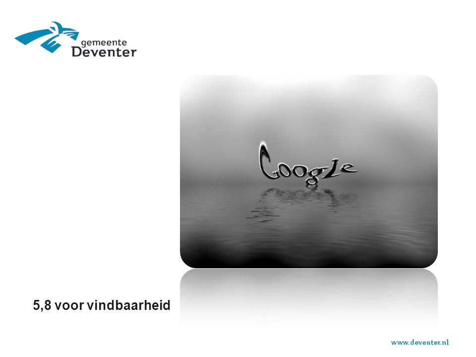 Resultaten  Deventer Digipanel nulmeting - 6,6 (oktober 2013) naar een 7,2 (3 maanden later).