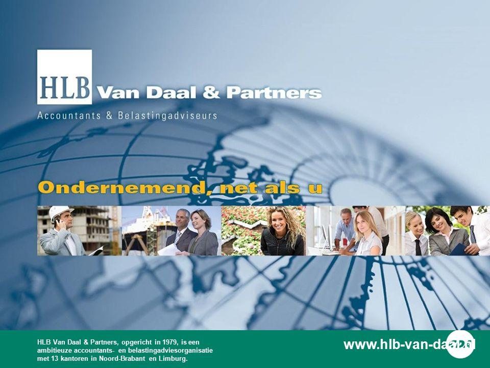 HLB Van Daal & Partners, opgericht in 1979, is een ambitieuze accountants- en belastingadviesorganisatie met 13 kantoren in Noord-Brabant en Limburg.