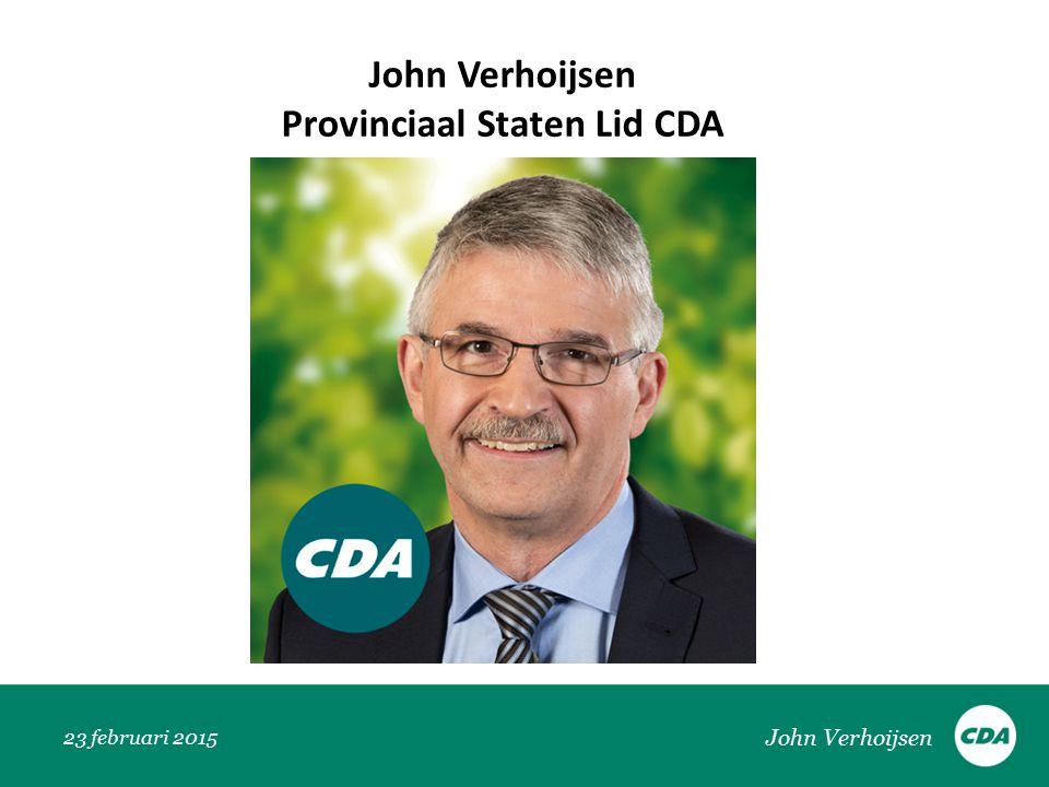 John Verhoijsen Provinciaal Staten Lid CDA John Verhoijsen