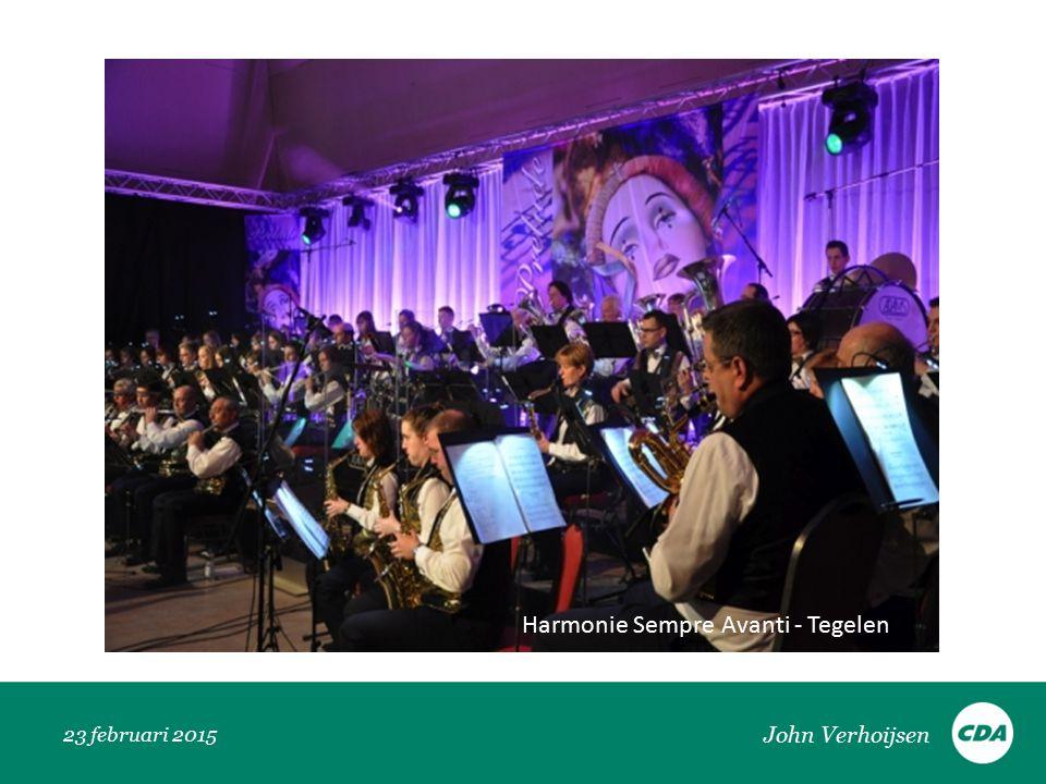 23 februari 2015 Harmonie Sempre Avanti - Tegelen John Verhoijsen