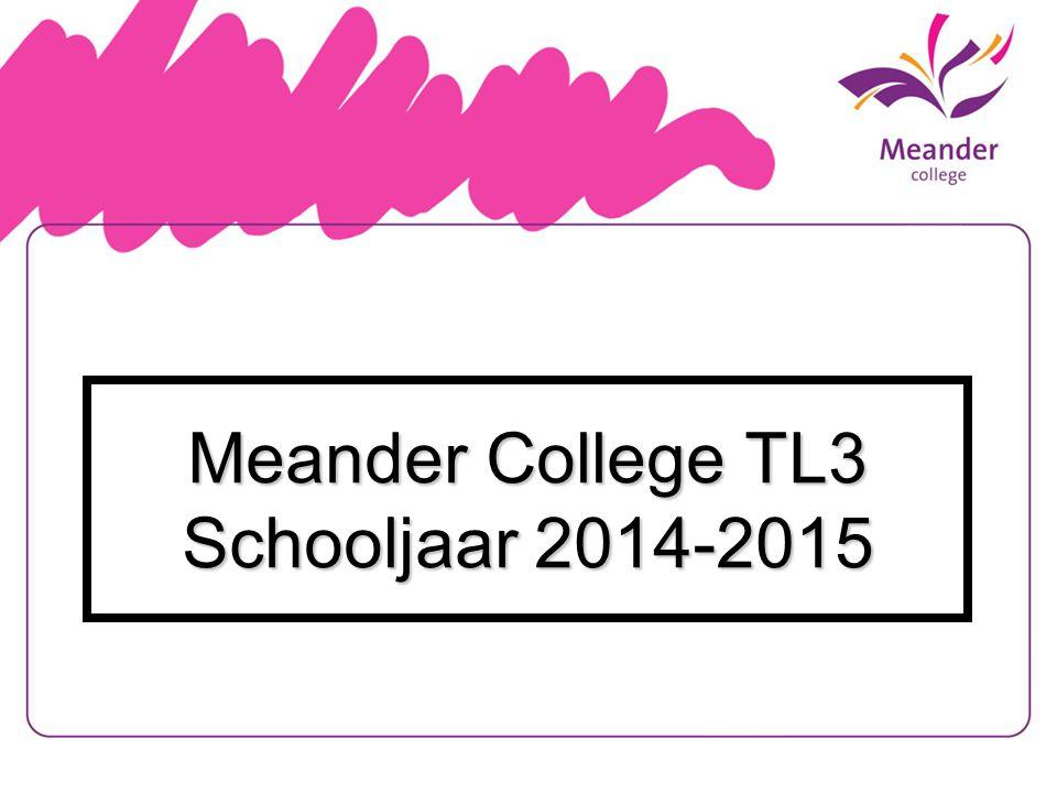 Meander College TL3 Schooljaar 2014-2015