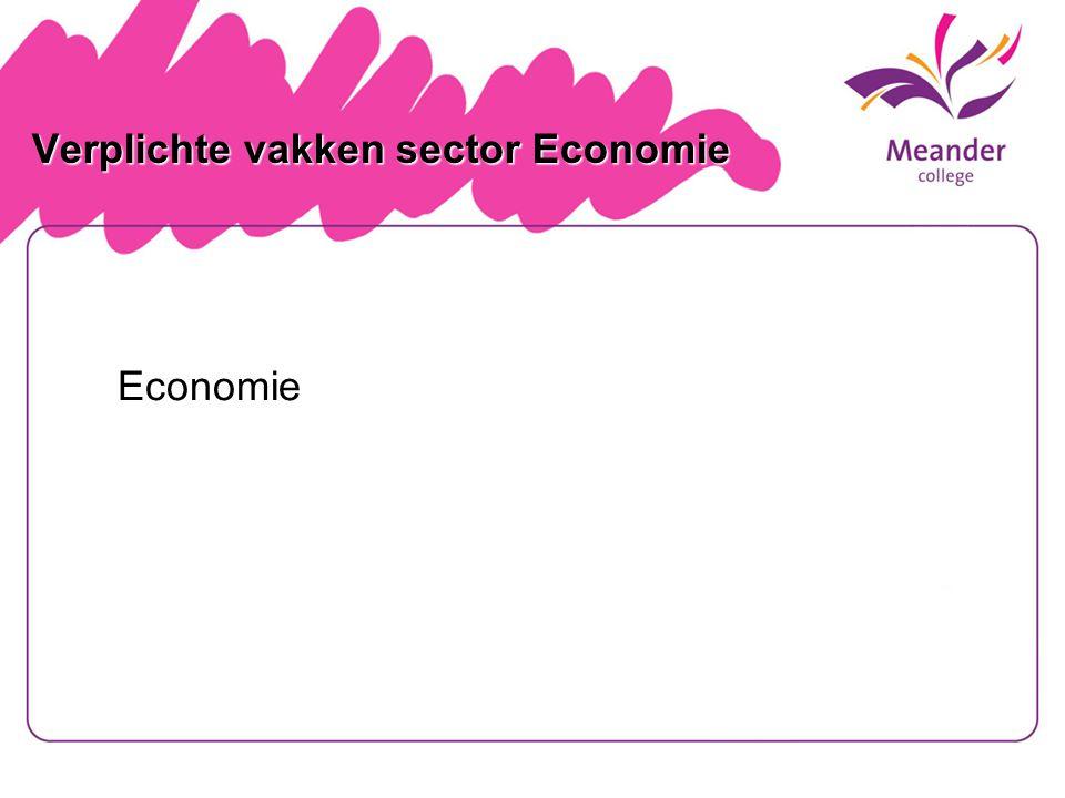 Verplichte vakken sector Economie Economie