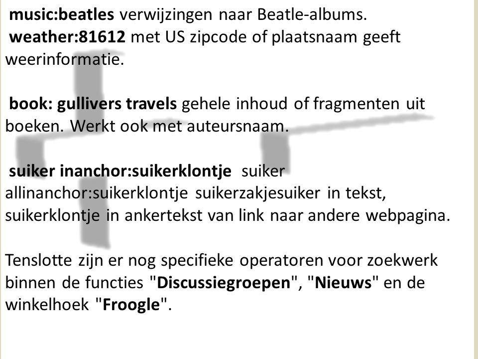 music:beatles verwijzingen naar Beatle-albums.