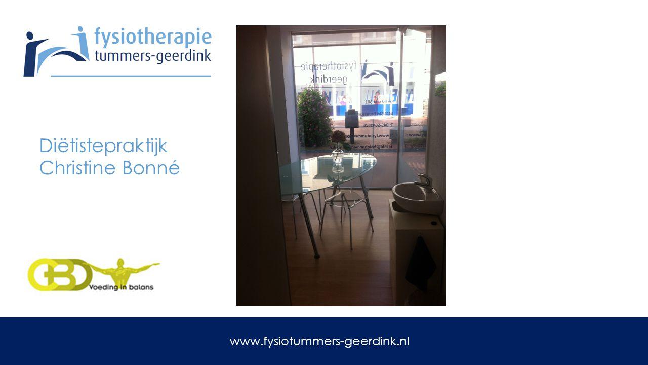 Revalidatie na: Schouderoperatie Nieuwe heup Knie operatie www.fysiotummers-geerdink.nl